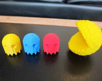 Retro Pac-Man and Company , Miniatures Four Pack, Pacman, Inky, Blinky, Pinky