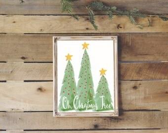 Oh Christmas Tree Printable Wall Art