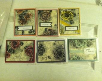Set of 6 Vintage looking Cards