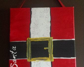 Santa belt canvas