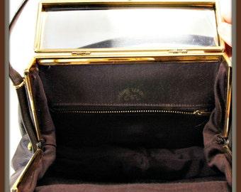 Vintage Etra Handbag,Vintage Leather Box Purse,Vintage Leather Handbag,Vintage Leather Etra Handbag,Vintage Leather Pocketbook,Etra Purse