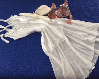 Beautiful White Satin Nightgown