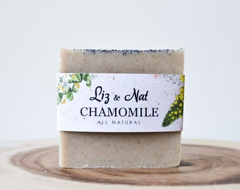 Chamomile Soap - Vegan Soap, Cruelty-Free Soap, All Natural Soap, Organic Soap, Cold Process Soap, Bar Soap, Homemade Soap, Handmade Soap