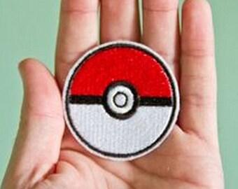 Embroidered Pokemon Pokeball Iron-on Patch