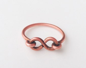 Copper Infinity Eternity Ring