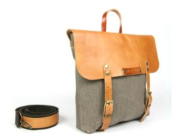 Handcrafted Mensajero messenger (eco leather) // classic
