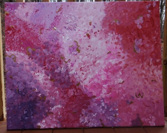 Abstract Acrylic Pink Painting