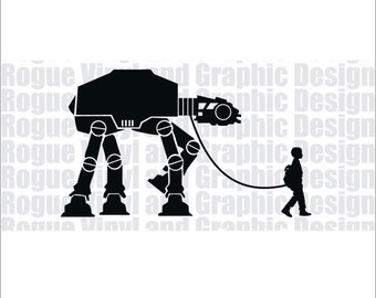 Boy walking AT-AT Decal / Sticker - Star Wars - Walker