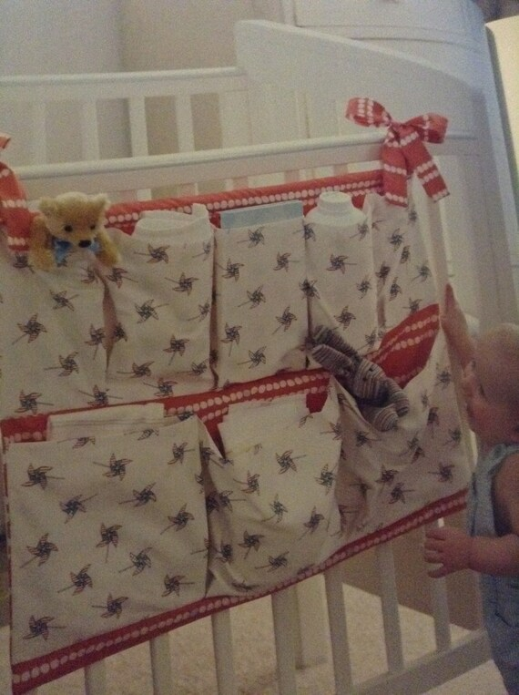 Hanging cot organiser, perfect for baby items, made for baby nurseries