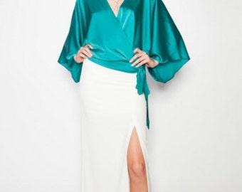 Silk Kimono Blouse