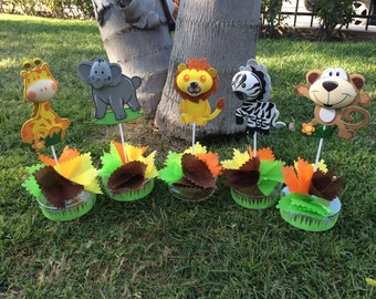 Zafary Animals Centerpiece for party