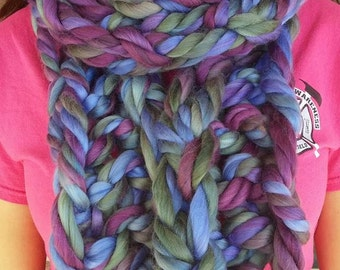 Multi color chunky scarf