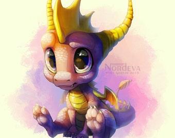 Spyro Print by Nordeva