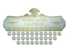 50cm Wood Family Birthday Calendar Date Board & 30 Tags. Personalized Custom Engraving Available with Each Order
