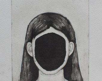 Face - original intaglio print