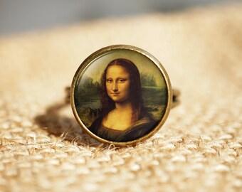Da Vinci The Mona Lisa, La Gioconda,Classic Art Jewellery,Classic Art Ring - Mona Lisa Rring,Gift for Art