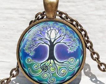 Tree of life pendant , White Tree Pendant ,Woodland jewelry ,Tree of life jewelry nature pendant