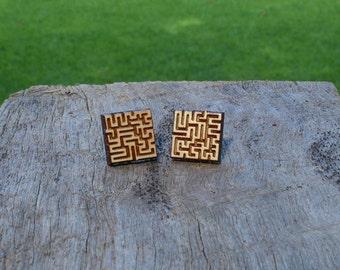Maze Timber Earrings