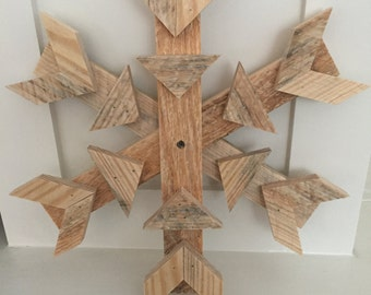 Reclaimed Wood SnowFlake