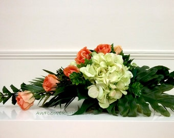 Roses and Hydrangea Arrangements F1545