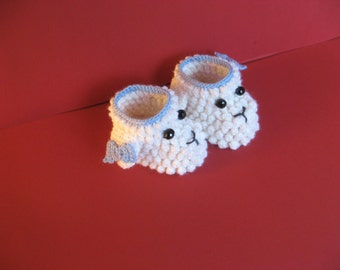 Baby booties / Crib shoes / Baby boots / Crochet Baby Boots