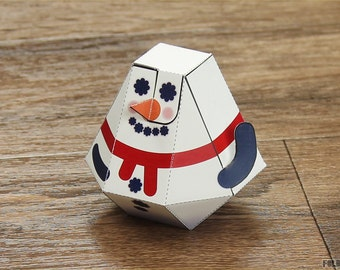 Christmas Snow Blow Paper Toy