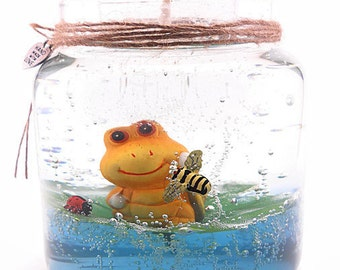 Forever Gel Candle, Refill the tealight holder, Keep the candle forever, Adorable Frog on a Lilypad, Over 20 scented refills to choose from!