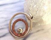 Ray of Hope; Sparkle Collection Mixed Metal (Copper & Sterling Silver) Pendant; Handmade Jewellery; makeforgood