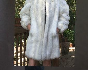 Jordash faux white fur coat