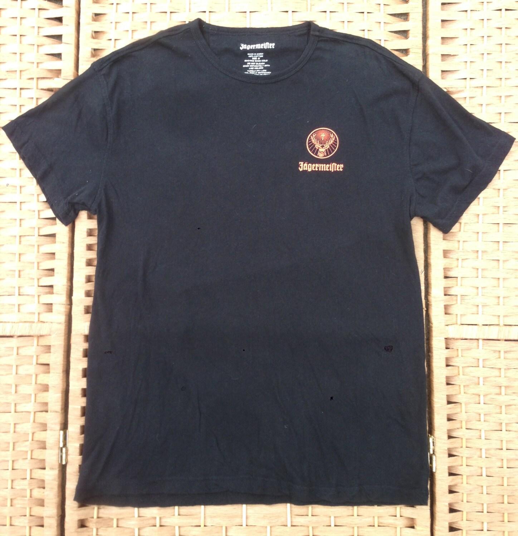 jagermeister t shirt black lightweight cotton tee orange. Black Bedroom Furniture Sets. Home Design Ideas