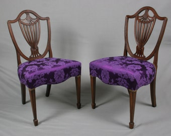 Pair of Antique Georgian Mahogany Chairs