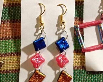 Colourful Charity Earrings Handmade UK