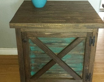 Rustic, distressed, end tables, night stands (set)