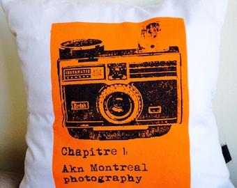 """Cushion """"Chapter 1"""" Orange"""