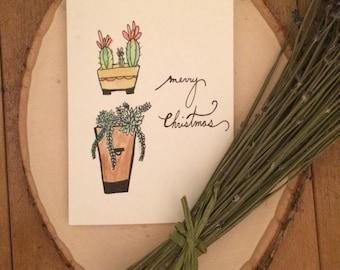 "Positive Paper Co. ""Succulent Merry Christmas"" Card"