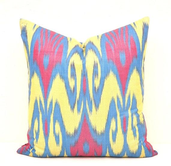 Ikat Throw Pillow Covers : 16 x16 Pillow covers Throw cushion Ikat Pillow Ikat