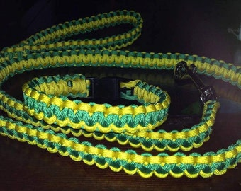 Large collar and leash set