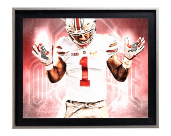 THE Ohio State University Buckeyes Art Print Matte Print Poster 16 x 20 Splatter
