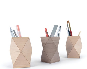 Wooden Pencil Pot