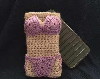 crochet phone case, iphone case, crochet phone case, Crochet Mobile Phone Cover, knit phone case, Cell Phone Sleeve, bikini phone case, gift
