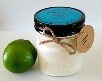 Coconut Lime 8oz Soy Candle
