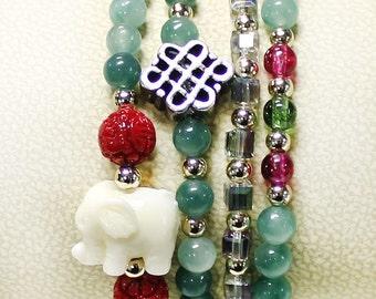 Tribal Elephant Wrap Bracelet