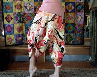 Silk Print Playa Pants