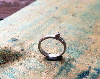 FREESHIP, silver ring, sterling silver ring, silver stacking ring, gift for her, statement ring, stackable ring, pebble ring, satin finish