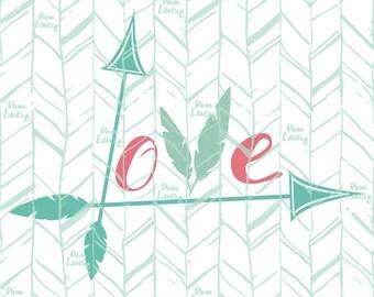 Valentines SVG, Arrow SVG, Love SVG - Cricut file, Digital Download