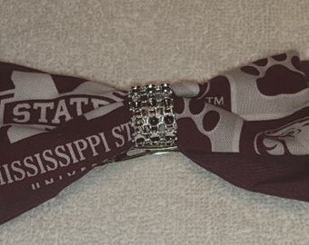 Mississippi State Hair Bow Barrette