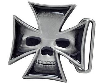 Maltese Skull Belt Buckle