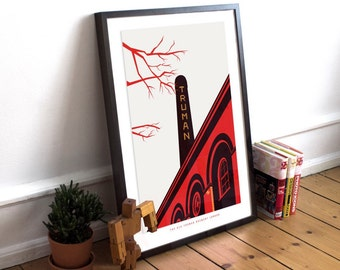The Old Truman Brewery London:  Illustrated poster print. Matte and Giclee Art Prints in A3 or A2 sizes. Wall Art, Home Decor, London Prints