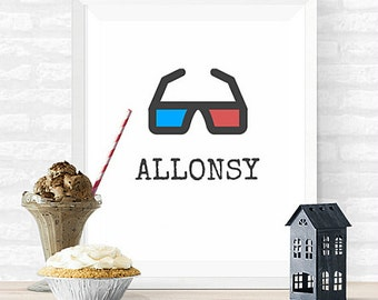 Allonsy Doctor Who INSTANT DOWNLOAD 8x10 Printable