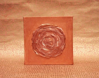 Copper Rose Acrylic Painting